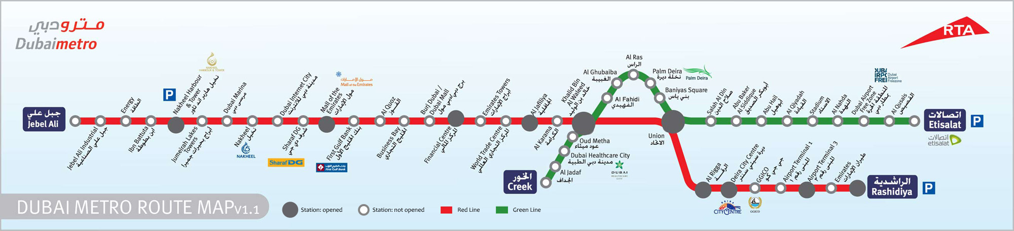 Map - dubaimetro.eu