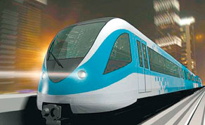 A main source of inspiration for the proposed regional rail network is the Dubai Metro, which was inaugurated last month