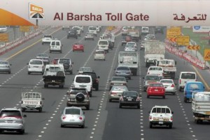 The gates, which charge drivers AED4 each time they pass through, were launched in July 2007 under a plan to cut down congestion on Dubai's roads