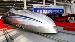 China tests 500kmph train