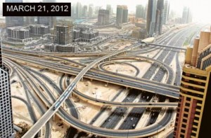 *  Image Credit: Ahmed Ramzan/Gulf News     * The Defence Roundabout project includes traverse bridges across Shaikh Zayed Road, providing freeway in both directions from Al Safa Road to Financial Centre Road, ensuring a seamless traffic flow from Al Safa Road towards Dubai. These bridges were opened in 2010.