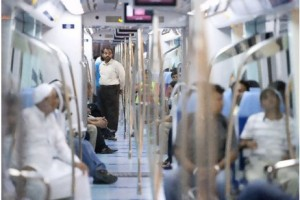 Dubai commuters enjoy far greater freedom of movement thanks to the Metro. The rail service has also been responsible for reducing road traffic. Above, people ride the Metro's Green Line. Jaime Puebla / The National