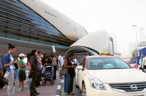 Image Credit: Gulf News Archives Under the system passengers can book a taxi via SMS, which will then be confirmed by a reply.