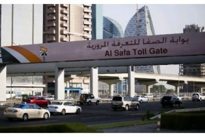 Traffic flows freely through Al Safa Salik Toll Gate on Sheikh Zayed Road in Dubai. Sarah Dea/The National
