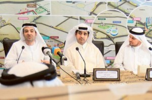 Image Credit: Oliver Clarke/ Gulf News     Nasser Aman Al Rahma of Dubai Sports Council, Dr Ahmad Al Sharif, general secretary of Dubai Sports Council, and Hamed Bin Mijren, executive director, business tourism, Department of Tourism and Commerce Marketing at a press conference to announce the new map of Dubai's sports venues. An online version of the map is also in the pipeline.