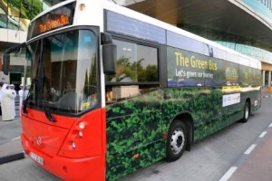 Dubai's RTA launches its latest environmental initiative, the Green Bus, which is a bio-fuel run vehicle. Courtesy RTA