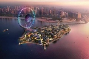 The Bluewaters Island which will include the 210-metre Dubai Eye, is expected to attract more than three million visitors a year. The Ferris wheel alone will cost Dh1bn. Courtesy of Dubai Media press office