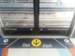 The new signage telling commuters where to board and alight from the train. (Majorie Van Leijen)