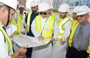 Mattar Al Tayer, Chairman of the Board and Executive Director of the Roads and Transport Authority (RTA), inspecting the project. (Supplied)