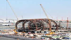 The airport authority is accelerating construction of Al Maktoum in a push to persuade main customer Emirates to move in before 2025. Photo – Bloomberg News