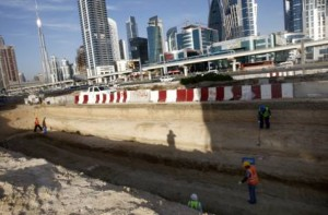 Image Credit: Virendra Saklani/Gulf News Work in progress at Dubai Canal project along Shaikh Zayed road.