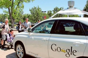Image Credit: AFP A Google self-driving car is seen in Mountain View, California.