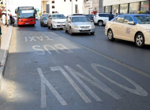 Motorists urged to abide by rules and avoid driving private vehicles on bus priority lanes. (Supplied)