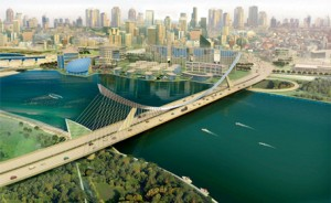An artist impression of Al Ittihad Bridge. (Supplied)
