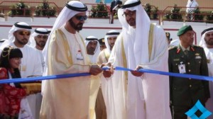 Shaikh Mohammad Bin Rashid and Shaikh Mohammad Bin Zayed inaugurate the latest edition of Dubai AirshowImage Credit: Dubai Media Office/Twitter