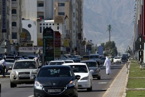 Hamad Bin Abdullah Road, the main thoroughfare in Fujairah, will undergo a Dh323 million upgrade. Satish Kumar / The National