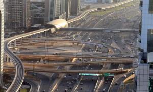 A view of Shaikh Zayed Road in Dubai. Driven by infrastructure investments, the Dubai construction sector is poised to outperform the overall UAE market. - Photo by Dhes Handumon
