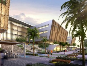 An artist's impression of the 'SmartCity' Kochi'